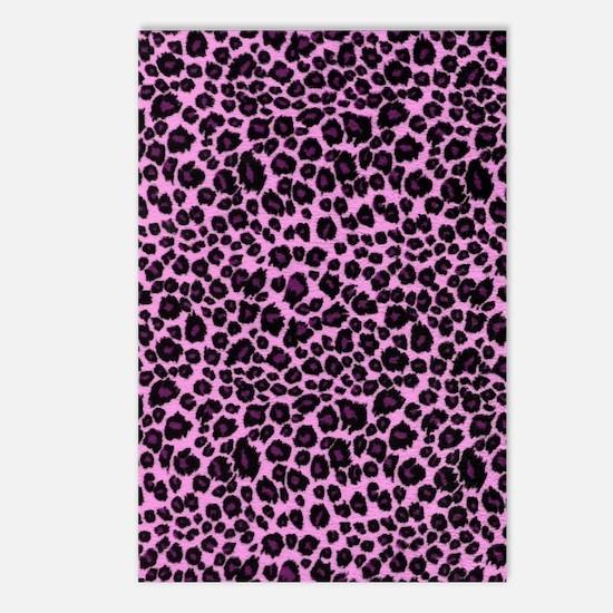 Purple Leopard Print Postcards (Package of 8)