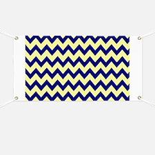 Yellow  Navy Chevron Banner