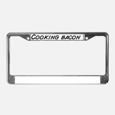Cooking bacon License Plate Frame