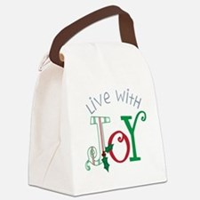 Live With Joy Canvas Lunch Bag