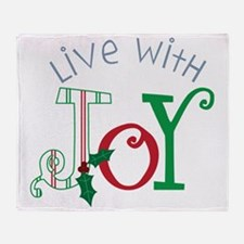 Live With Joy Throw Blanket