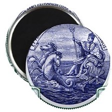 1916 Barbados Neptune Postage Stamp Magnet