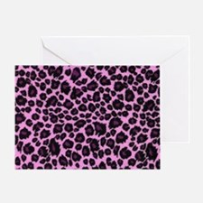 Purple Leopard Print Greeting Card