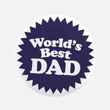 "Worlds Best Dad 3.5"" Button"