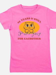 25th Purr-fect Anniversary Girl's Tee