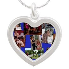 weekend tiff Silver Heart Necklace