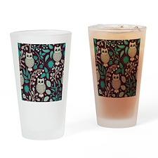 Owls Pattern Drinking Glass