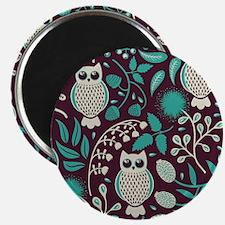 Owls Pattern Magnet