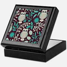 Owls Pattern Keepsake Box