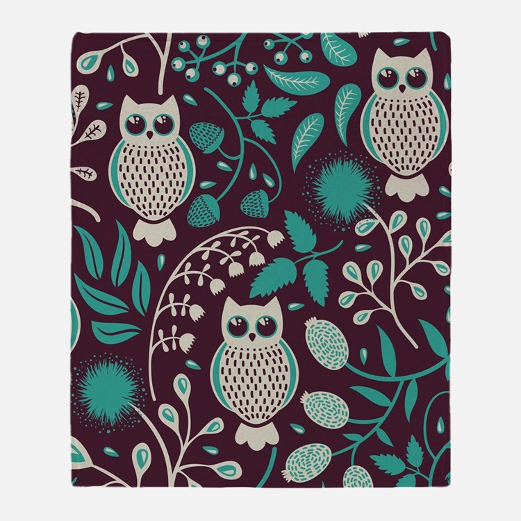 Owls Pattern Throw Blanket