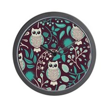 Owls Pattern Wall Clock