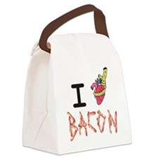 I Heart Attack Bacon Canvas Lunch Bag
