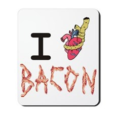 I Heart Attack Bacon Mousepad