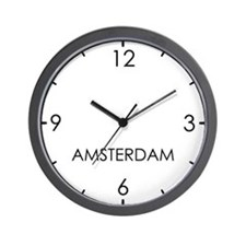 AMSTERDAM World Clock Wall Clock