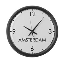 AMSTERDAM World Clock Large Wall Clock