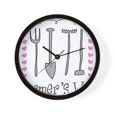 Farmer's Wife Wall Clock