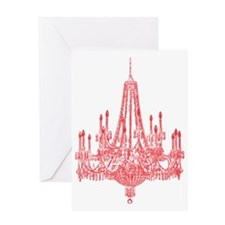 Vintage Chandelier Greeting Card
