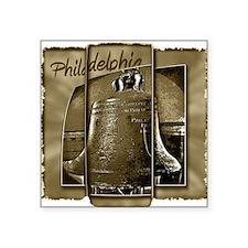 "Philadelphia Liberty Bell Square Sticker 3"" x 3"""