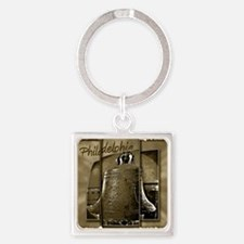 Philadelphia Liberty Bell Square Keychain