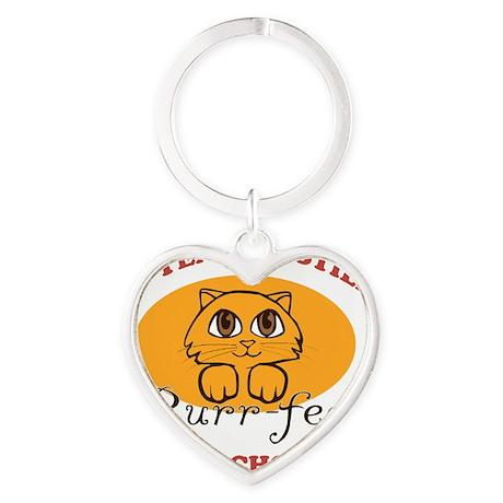 50th Purr-fect Anniversary Heart Keychain