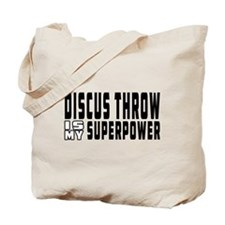 Discus Throw Is My Superpower Tote Bag