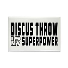 Discus Throw Is My Superpower Rectangle Magnet