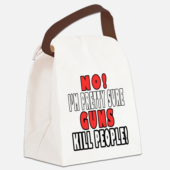Guns Kill Canvas Lunch Bag
