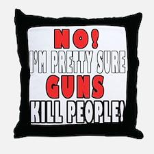 Guns Kill Throw Pillow