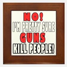 Guns Kill Framed Tile
