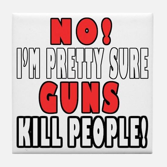 Guns Kill Tile Coaster