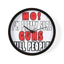 Guns Kill Wall Clock