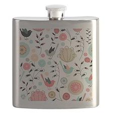 Pretty Bird Pattern Flask