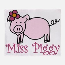 Miss Piggy Throw Blanket