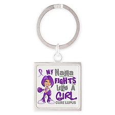 D Nana Fights Like Girl Lupus 42.9 Square Keychain