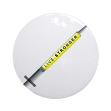 LIVE STRONGER Round Ornament