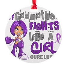 D Godmother Fights Like Girl Lupus  Ornament