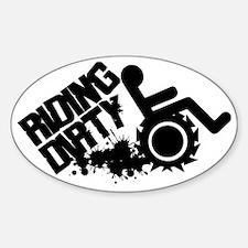 Riding Dirty  Sticker (Oval)