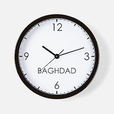 BAGHDAD World Clock Wall Clock