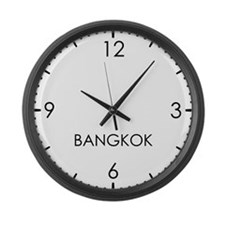 BANGKOK World Clock Large Wall Clock