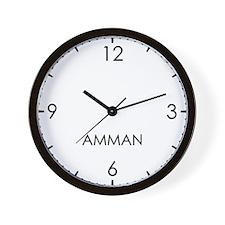 AMMAN World Clock Wall Clock