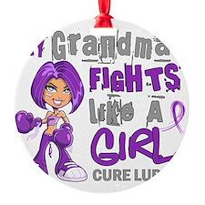 D Grandma Fights Like Girl Lupus 42 Ornament