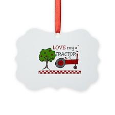 Love My Tractor Ornament
