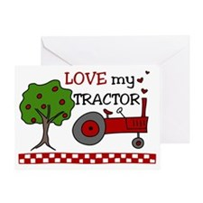 Love My Tractor Greeting Card