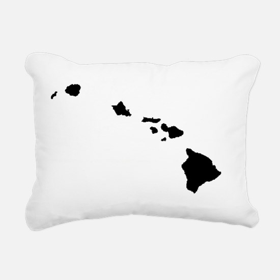 Hawaiian Islands Rectangular Canvas Pillow