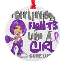 D Girlfriend Fights Like Girl Lupus Ornament