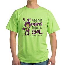 D Niece Fights Like Girl Lupus 42.9 T-Shirt