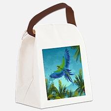 Tropical Bird Canvas Lunch Bag