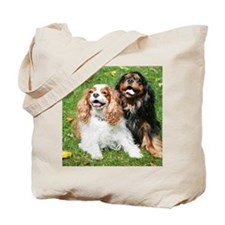 Happy Cavalier King Charles Spaniels Smal Tote Bag