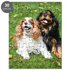 Happy Cavalier King Charles Spaniels Small  Puzzle
