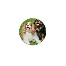 Happy Cavalier King Charles Spaniels S Mini Button